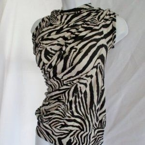 NWT NEW JUNYA WATANABE Zebra Ruched Top